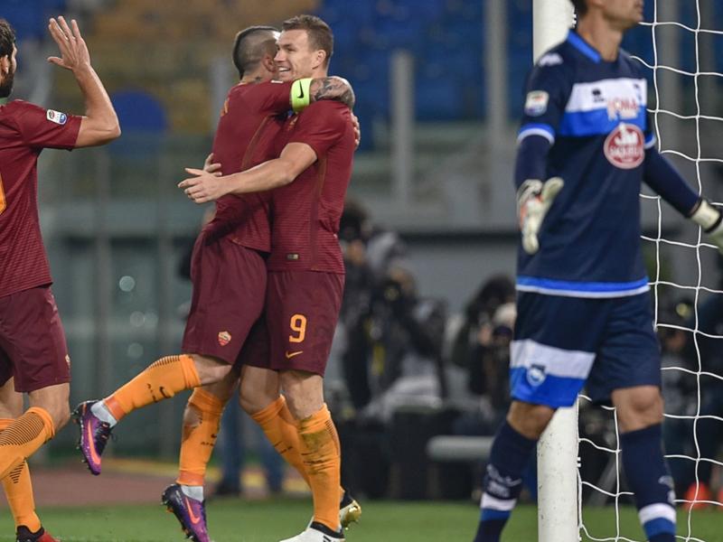 Roma-Pescara 3-2, la Roma rebondit