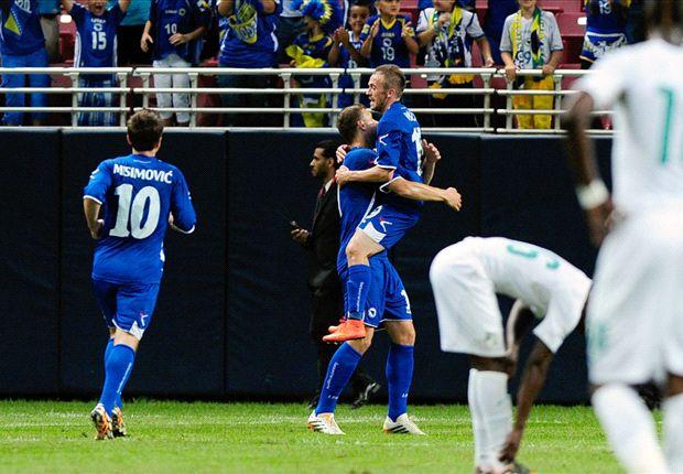 Bosnia 2-1 Costa de Marfil: Edin Dzeko decidió con un doblete