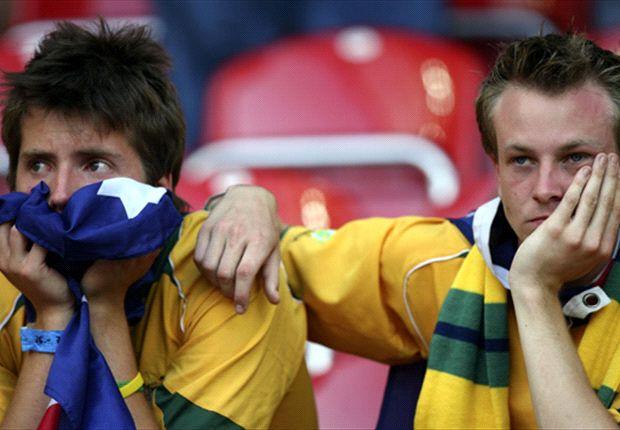 Canguros inflables representan a los fans de Australia