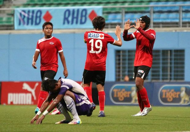 Home United crush Nagacorp FC in Singapore Cup