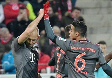 Robben loodst Bayern langs Mainz