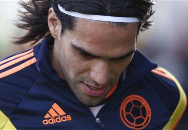 Falcao, en un entrenamiento con Colombia