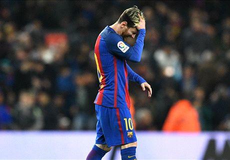 Messi llega a seis clásicos sin anotar