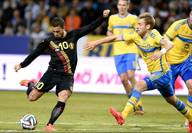Sweden 0-2 Belgium: Hazard answers doubters in comfortable win