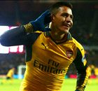 Alexis hat-trick sends Arsenal second
