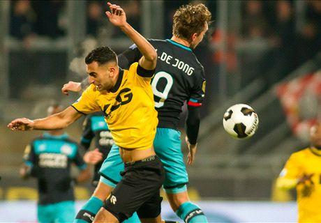 PSV struikelt in Kerkrade over Roda