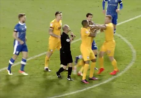 WATCH: Preston players fight each other!