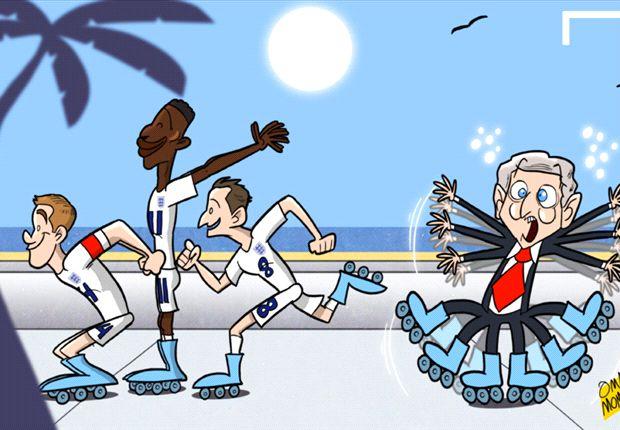 Inglaterra se aclimata sobre patines en Miami