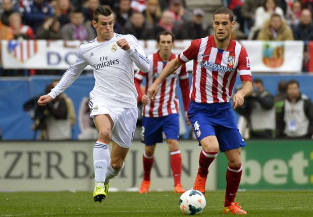 Gareth Bale Mario Suarez Atletico de Madrid Real Madrid La LIga 03022014