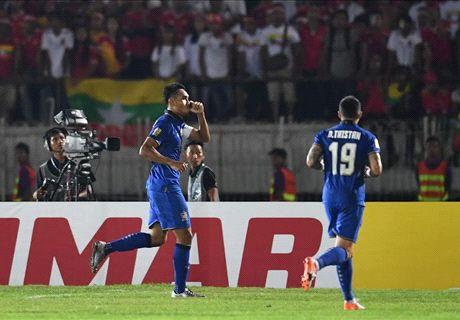 FT: Myanmar 0-2 Thailand