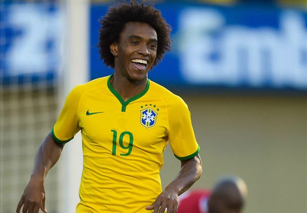 Willian: Brazil squad can share Neymar's burden