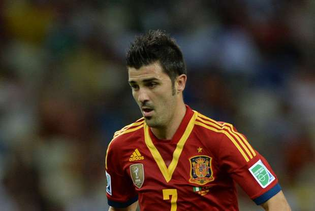 Spain forward David Villa