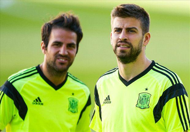 Cesc Fabregas Gerard Pique Spain