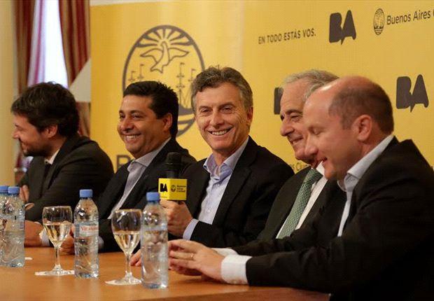 Macri, junto a Lammens, Angelici, D'Onofrio y Calello.