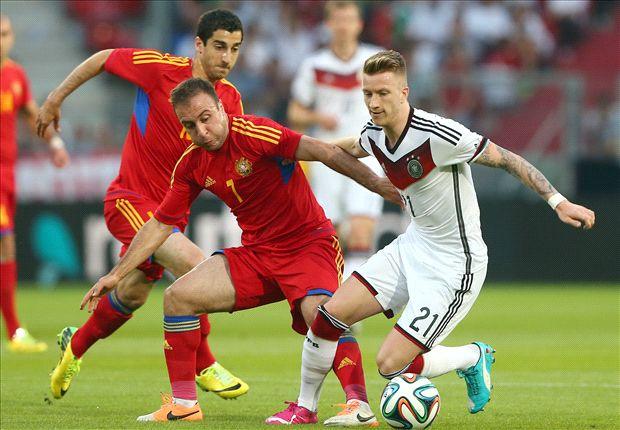 Germany rocked by Reus injury against Armenia