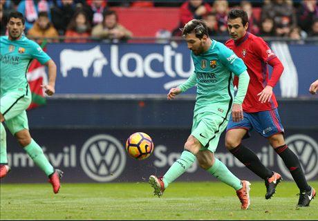FT: Osasuna 0-3 Barcelona