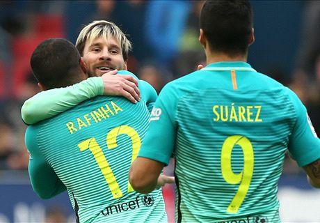 El Barcelona metía presión al Madrid (0-3)