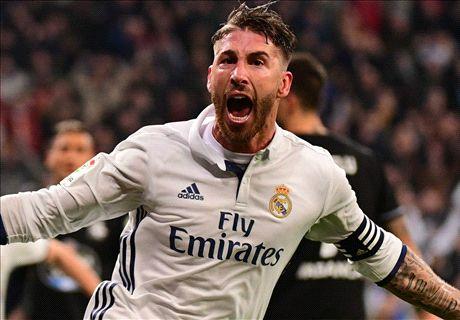 Ramos kopt Real langs Deportivo in slotminuut