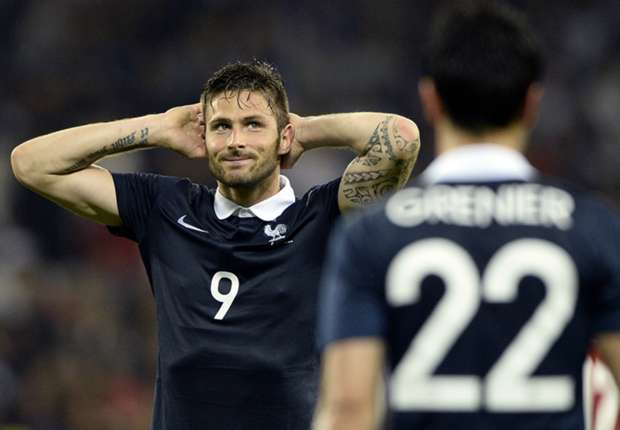 Giroud 'disappointed' not to start for France