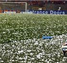 Hailstorm halts Belgium - Tunisia