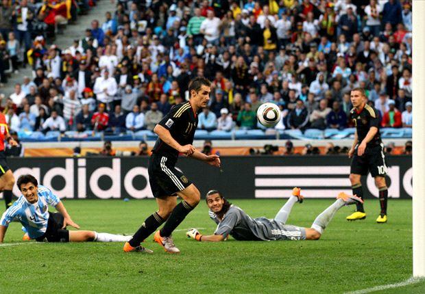De los 15 goles que lleva en Mundiales, tres se los hizo a Argentina...