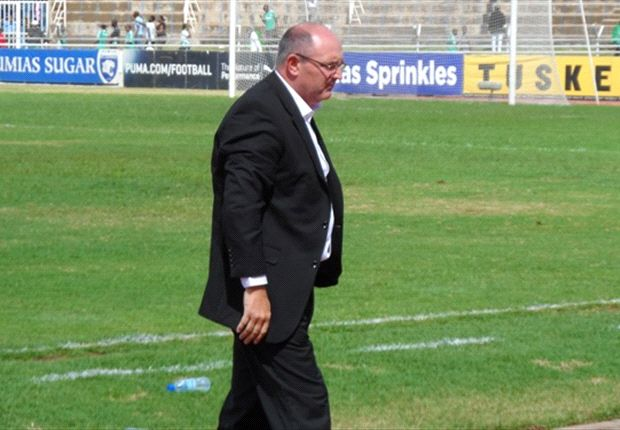 Gor Mahia coach Bobby Williamson at Nyayo Stadium on Sunday.