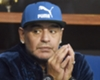 Napoli great Diego Maradona at the Davis Cup final