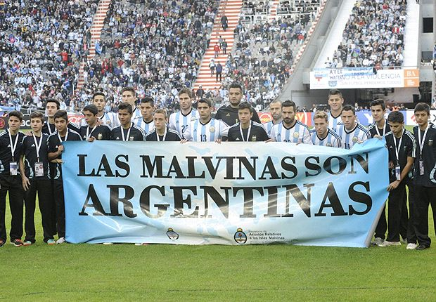 Argentina fined by Fifa for Falkland Islands banner