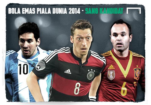 Bola Emas Piala Dunia 2014 - Inilah Kandidat Peraihnya