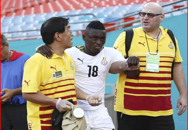 Thigh injury could rule Ghana's Waris out of World Cup