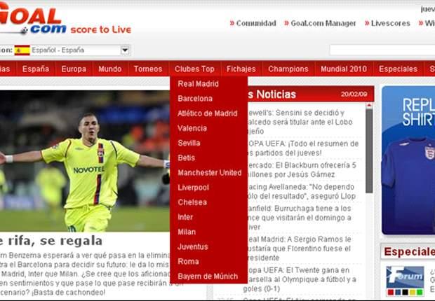 ¡Los Clubes Top de Goal.com, al alcance de tu mano!