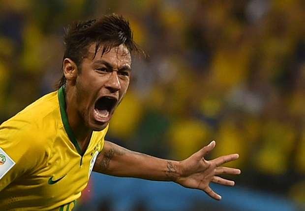 Zur Eröffnung gleich ein Doppelpack: Brasiliens Superstar Neymar