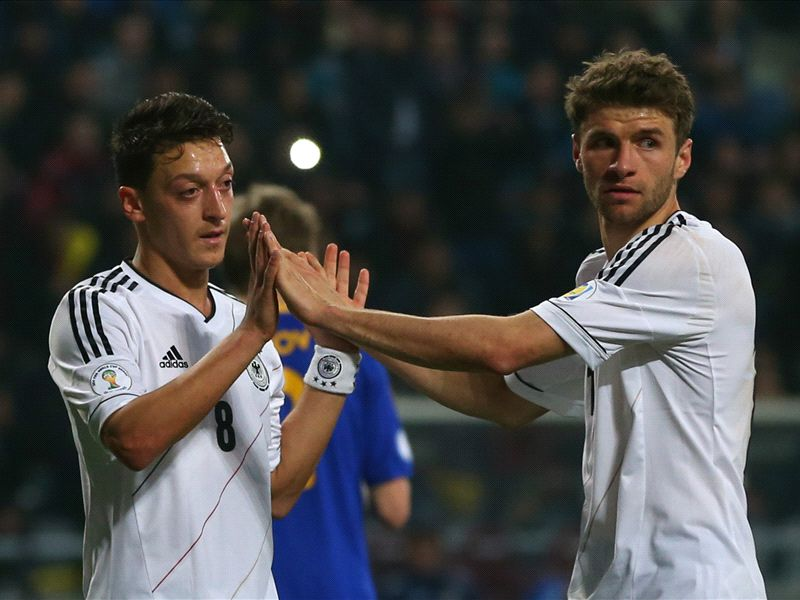 Mesut Ozil Thomas Muller Germany World Cup qualifier 22032013