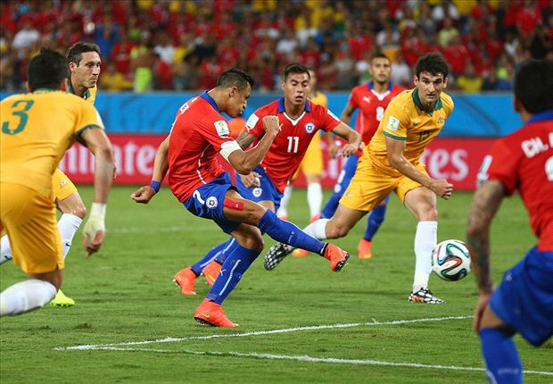 Chile 3-1 Australia: Alexis and Valdivia help see off plucky Socceroos