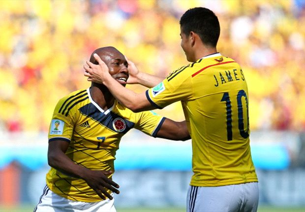 Colombia 3-0 Greece: Armero, Gutierrez and Rodriguez give Pekerman's men perfect start