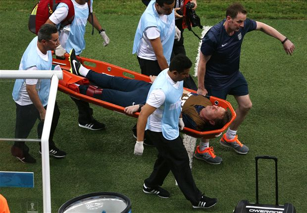 England physio Lewin suffers freak injury