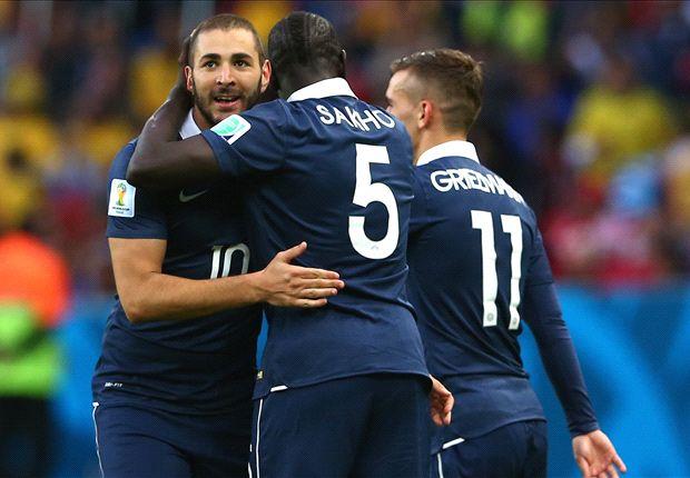 Benzema knalt Frankrijk langs Honduras