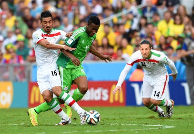 Doelpuntloze remise tussen Iran en Nigeria