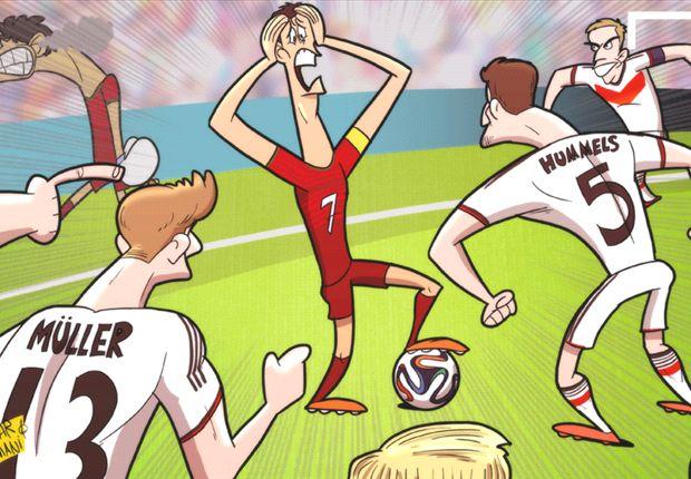 La 'Mannschaft' asusta a Cristiano Ronaldo