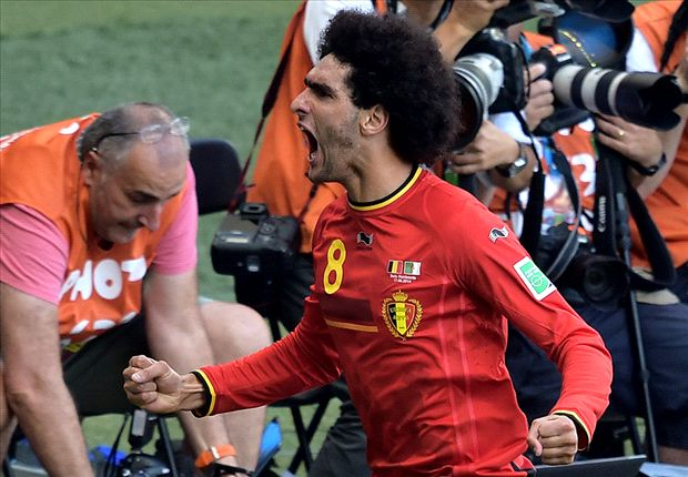 Belgium 2-1 Algeria: Fellaini and Mertens seal World Cup comeback