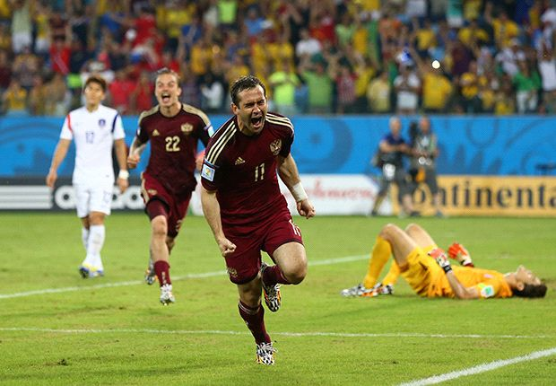 Russia 1-1 South Korea: Kerzhakov rescues point for Capello's men