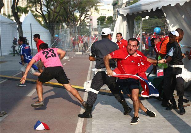 Chile fans storm Maracana media centre