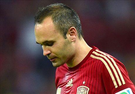 Iniesta out of Spain squad