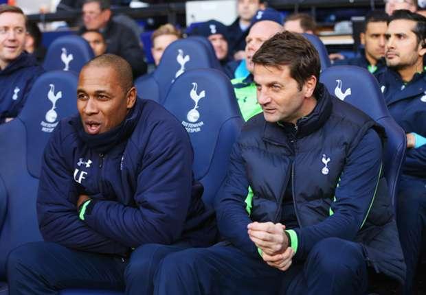 Les Ferdinand alongside Tim Sherwood