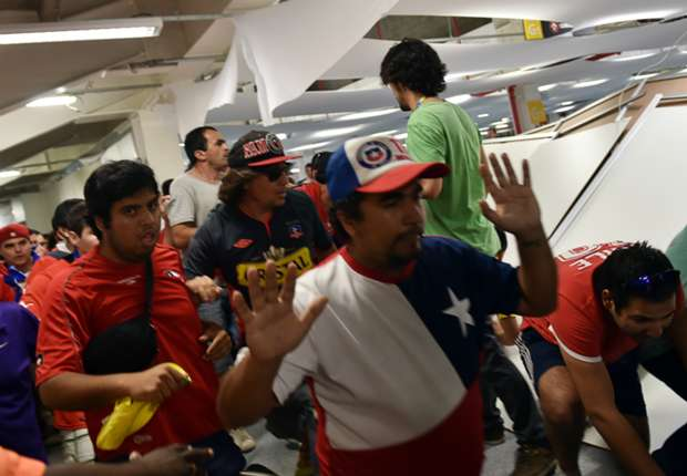 Chile chief slams 'shameful' fans for Maracana misconduct