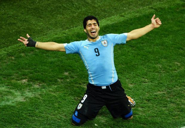 Luis Suárez tras marcar ante Inglaterra con Uruguay