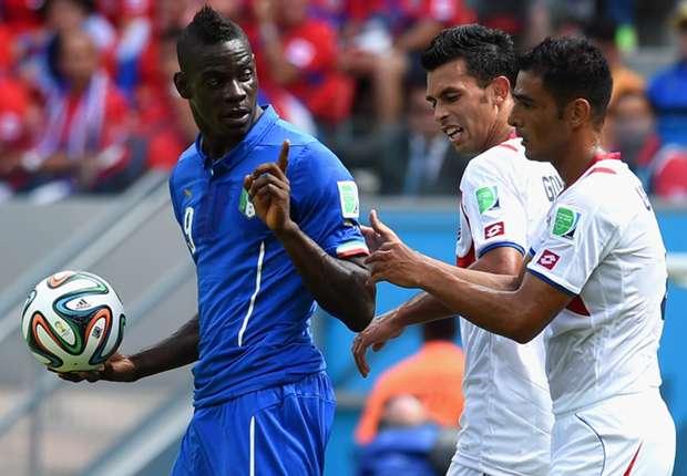 Las estadísticas del Italia 0-1 Costa Rica en el Mundial 2014
