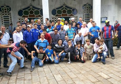BiH stars visit Cuiaba mosque