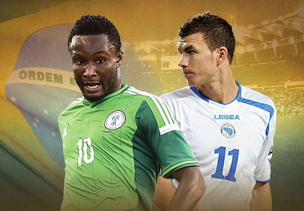 LIVE + Opstellingen: Nigeria - Bosnië