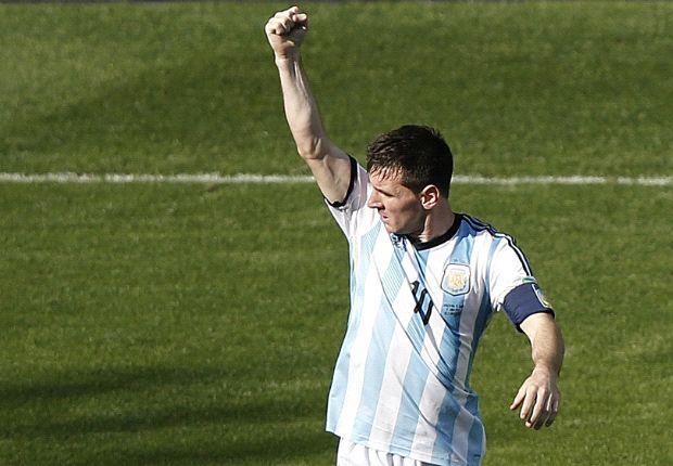 Garant für den Sieg: Lionel Messi schoss seine Landesfarben ins Achtelfinale